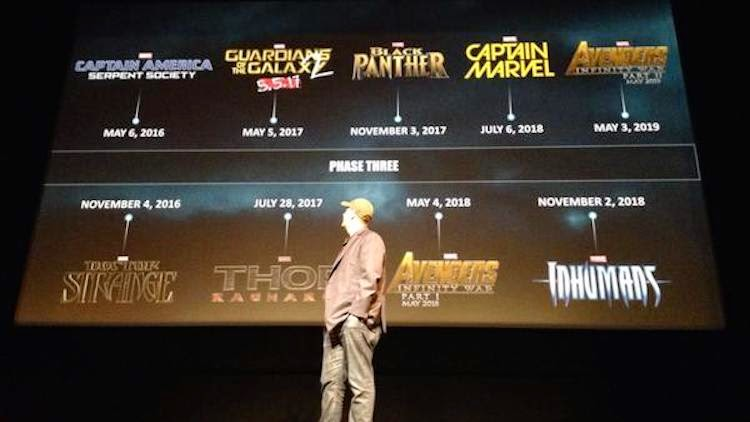 Release dates for Marvel Cinematic Universe Phase Three movies
