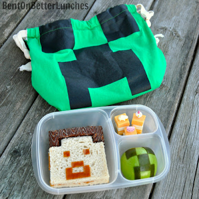 ThrifTee Gear bag review & MineCraft bento school lunch in EasyLunchboxes