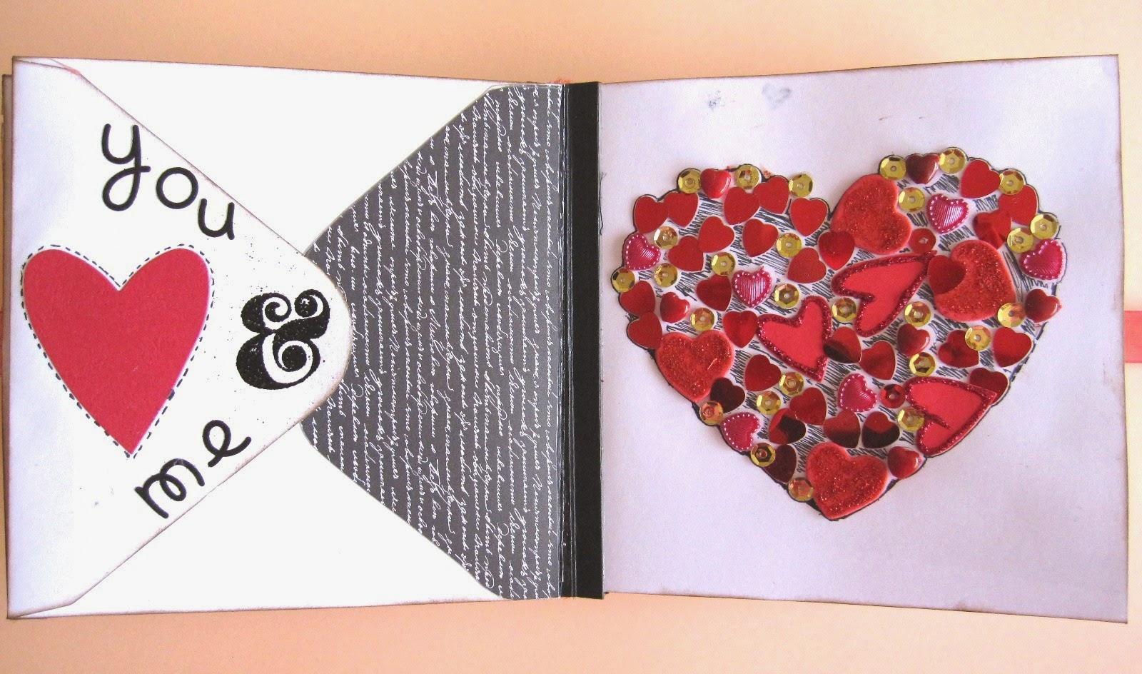 El caj n desastre de isa decoraci n interior del love mini lbum 1 parte - Decorar album de fotos por dentro ...