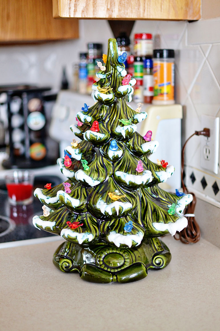 vintage ceramic light up tree