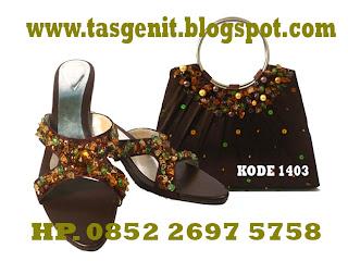 cluth bag, dompet kondangan, tas pesta dan sepatu pesta