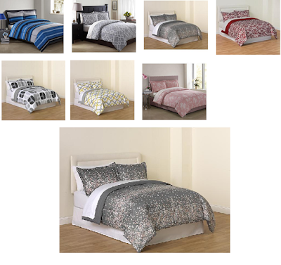 Great Essential Home piece Microfiber Comforter Sets Twin or Full Queen Sizes Free Store Pickup At KMart Includes Comforter and Pillow Shams