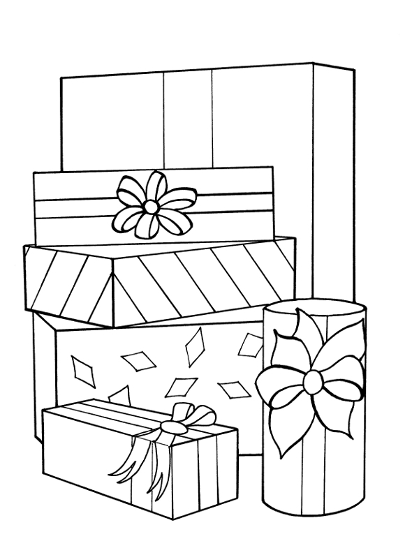 Coloring pages christmas presents disney coloring pages for Christmas gift coloring page