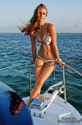 Julie Henderson, on a yacht