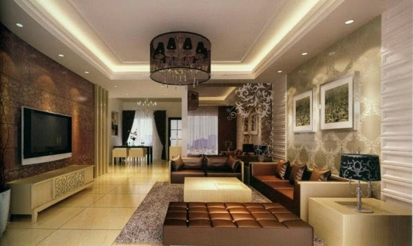 33 cool ideas for led ceiling lights and wall lighting fixtures 2018 interior lighting design ideas interior with chandelier and ceiling spotlights mozeypictures Choice Image