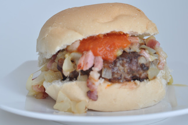 Homemade Cheese & Bacon Burgers ~ Simple Food