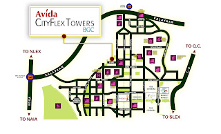 Avida CityFlex Towers BGC Location Map