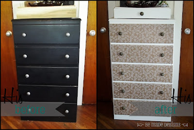 His Dresser Before & After {be made designs}