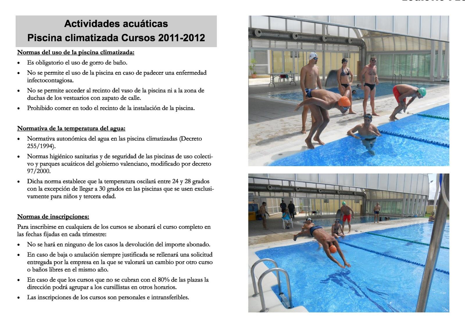 Blog de l 39 ajuntament de tur s informaci n sobre la for Gimnasio y piscina