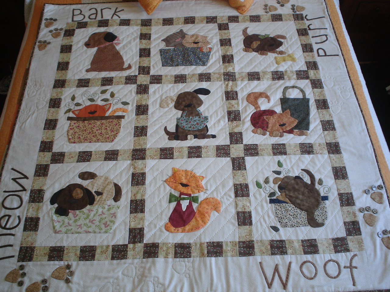 Las cosinas de elisa manta patchwork perros y gatos - Patrones de perros de patchwork ...