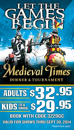 Enjoy an exciting tournament and a royal feast with a trip to Atlanta's Medieval Times, and spend an evening in a sumptuous castle lined with coats of arms, artifacts and armor.5/5(1).