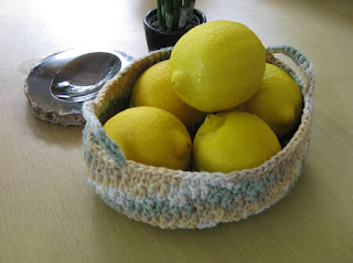 oval crochet basket