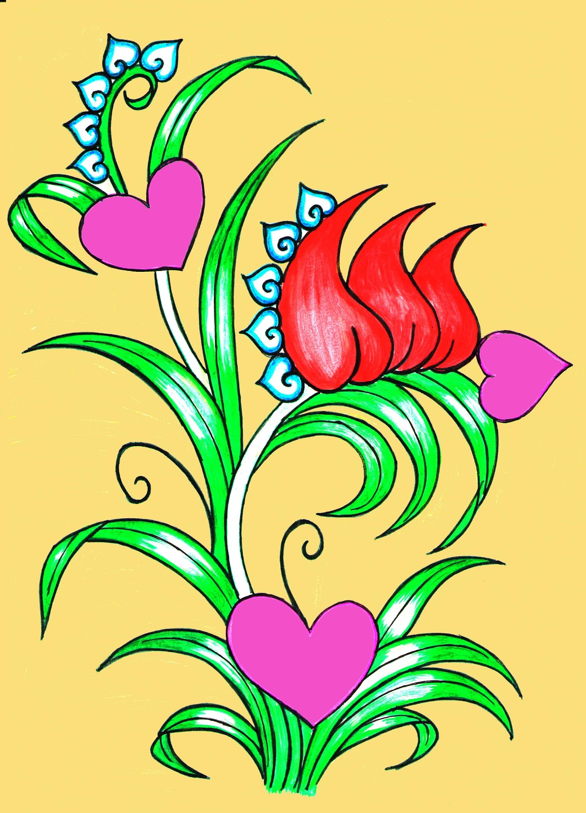 Remarkable Painting Flower Design 1154 x 1600 · 338 kB · jpeg
