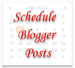 schedule blogger posts