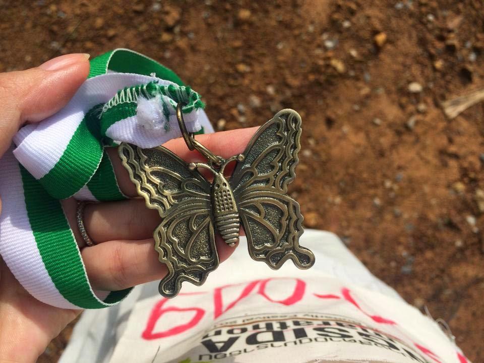 เหรียญผีเสื้อ วิ่งปางสีดา ปางสีดามินิมาราธอน