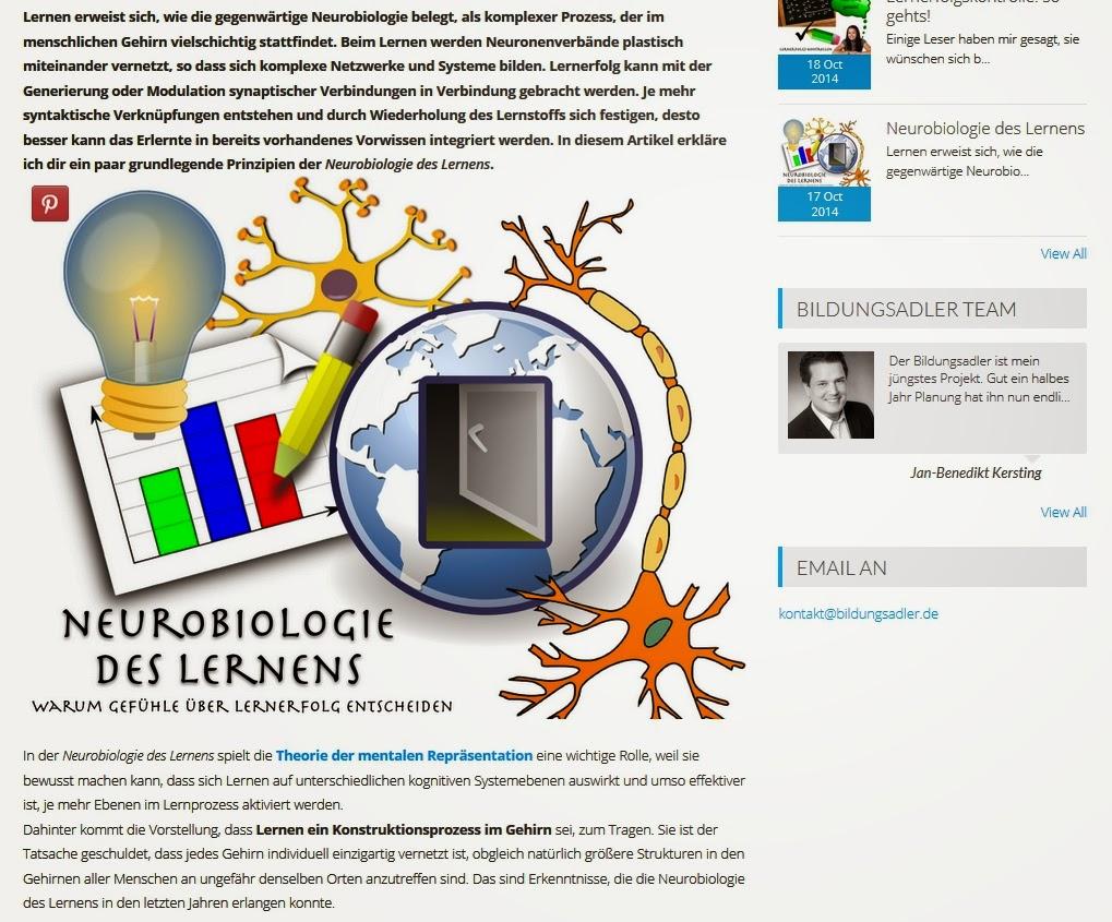 Bildungsadler - Neurobiologie des Lernens