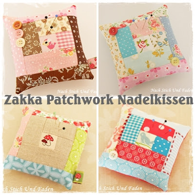 nach stich und faden tutorial zakka patchwork nadelkissen. Black Bedroom Furniture Sets. Home Design Ideas