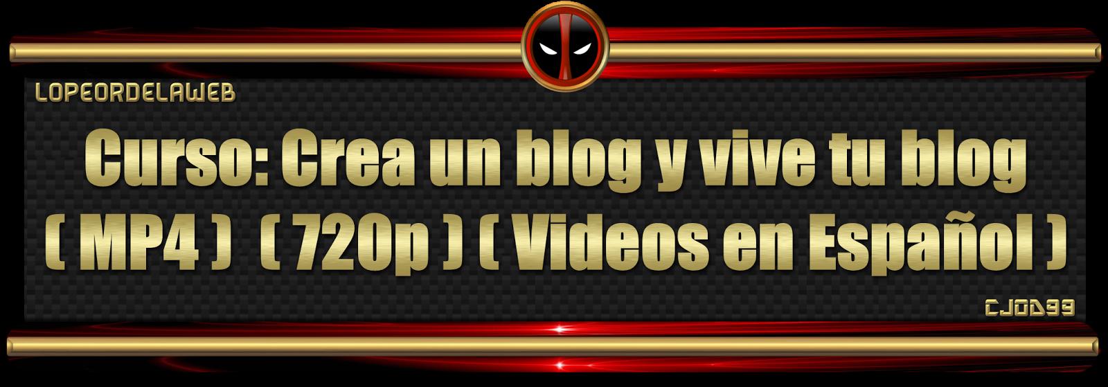 Curso: Crea un blog y vive tu blog
