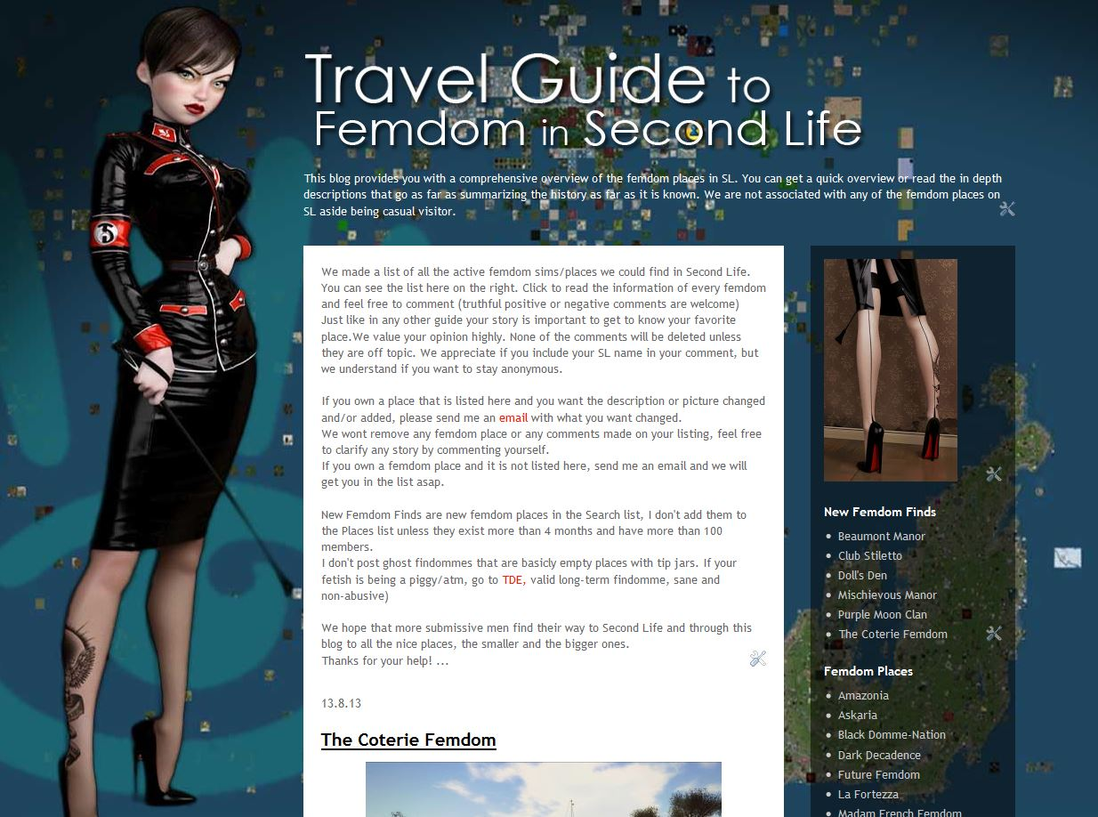Travel Guide to Femdom in SL