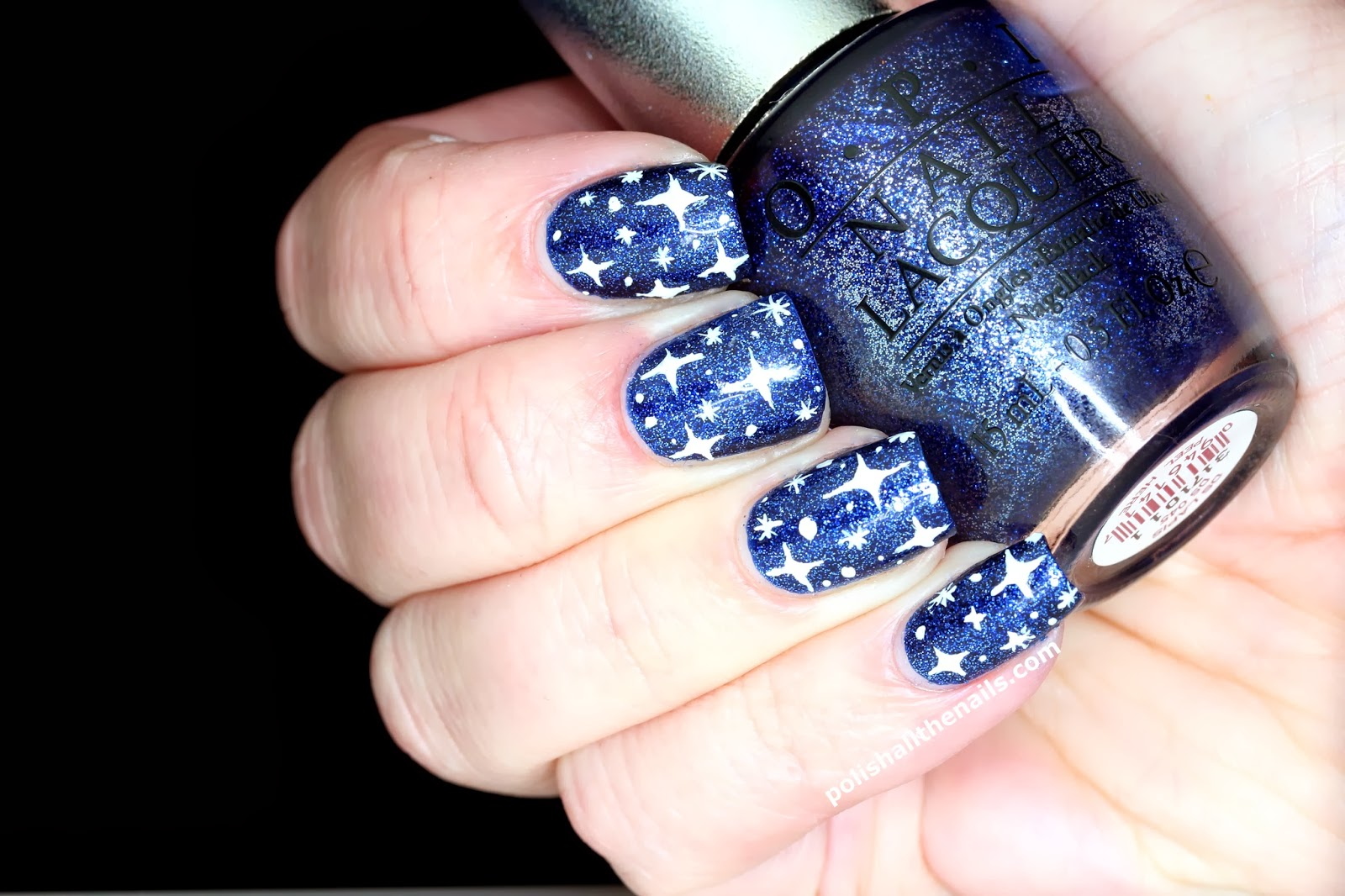Nail Art: Review: OPI DS Lapis in a Starry Night Sky