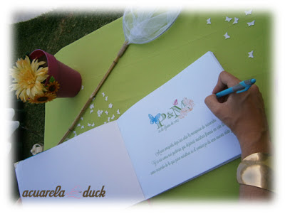 libro de firmas boda original
