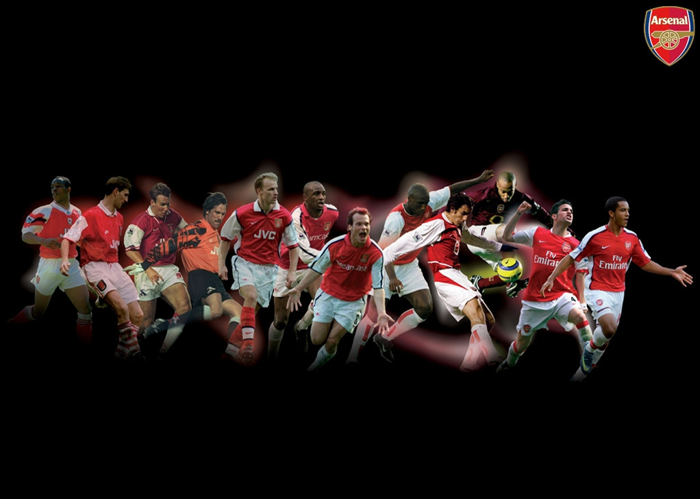 Arsenal team wallpapers black