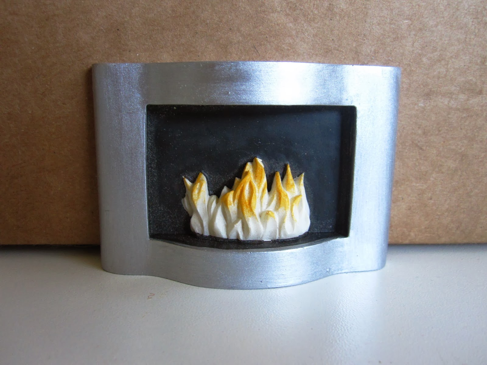 Modern resin miniature fireplace