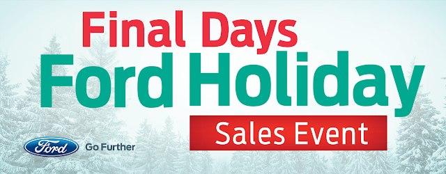 Final Days of the Ford Holiday Sales Event