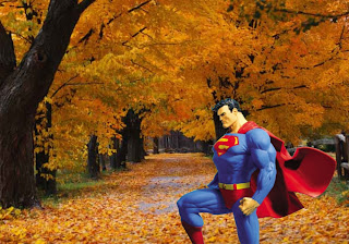 Superman free wallpapers Superman Statue in Classic Autumn Trees background