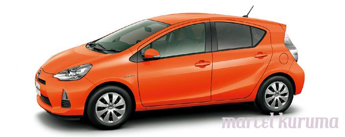 Marcel Japan Cars Reviews: Toyota Aqua Color body option ...