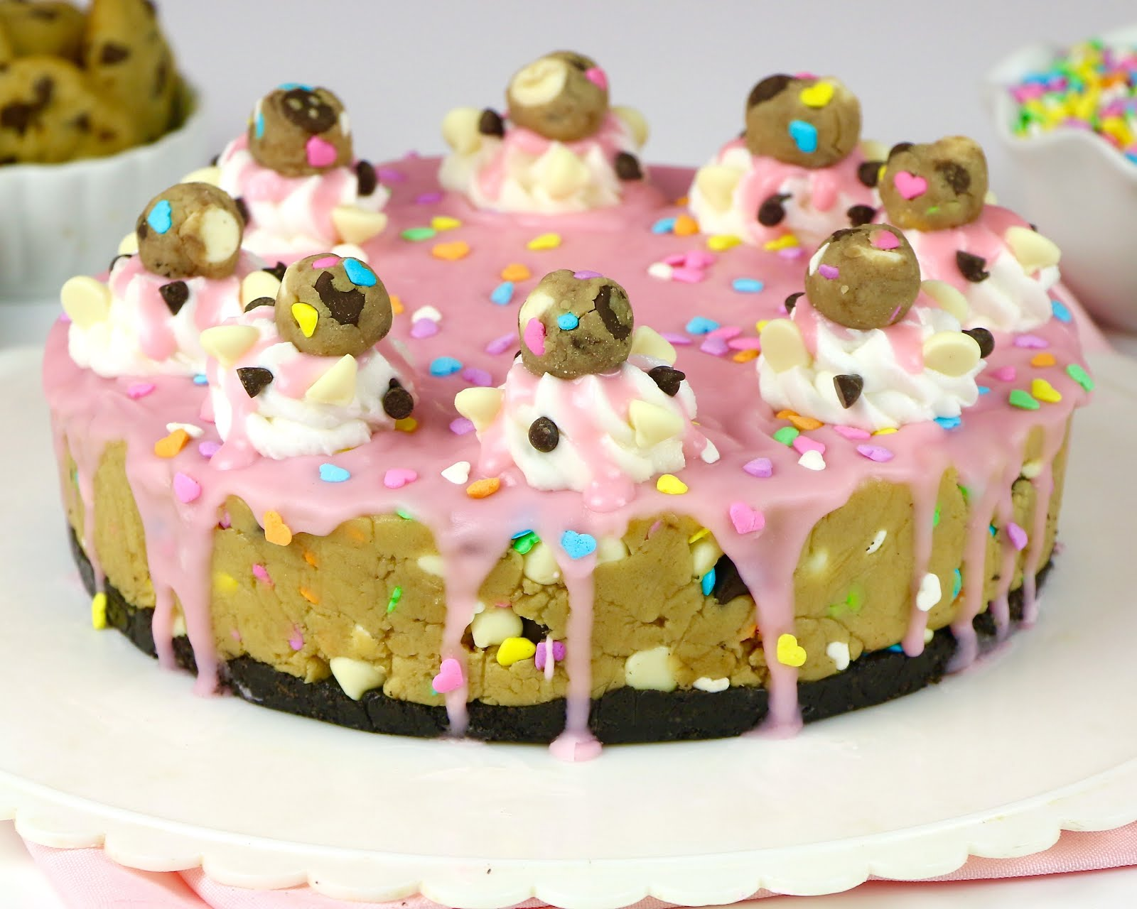Cake Batter Oreo Stuffed Funfetti Cookies