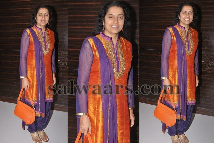 Suhasini Orange Silk Salwar