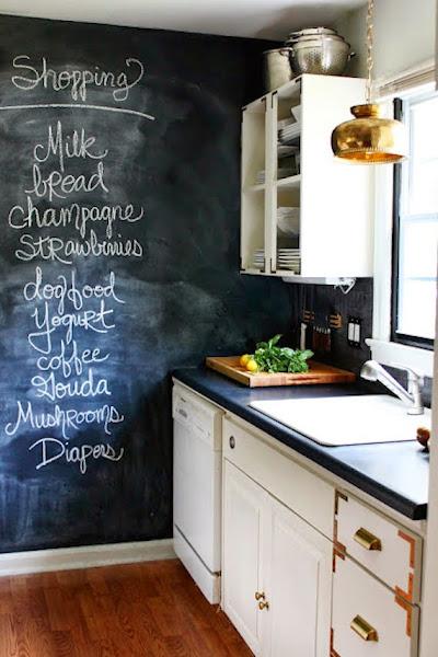 cocinas con paredes de pizarra