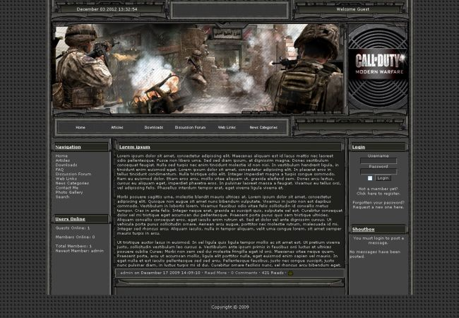 Cod Guild Clan Games 2013 Php