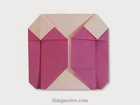 Cách gấp, xếp áo khoác nữ bằng giấy origami - Video hướng dẫn xếp hình quần áo - How to fold a down jacket