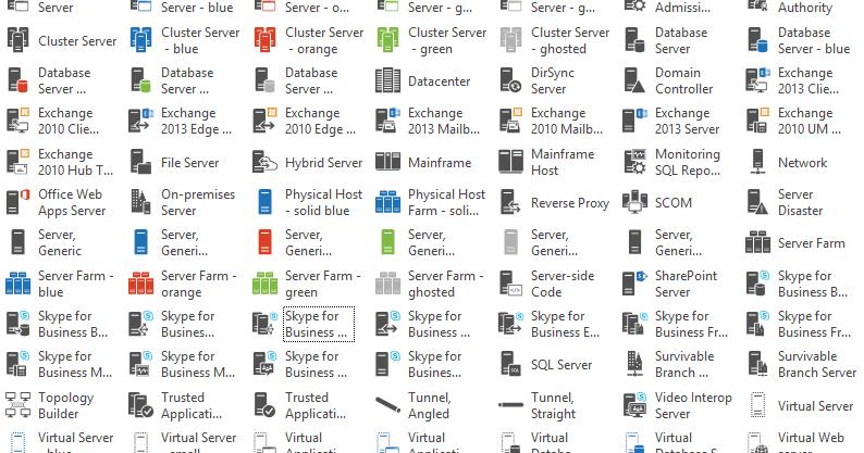 new skype for business visio server stencils