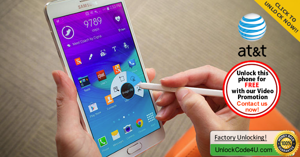 Factory Unlock Code for Samsung Galaxy Note 4 from At&T