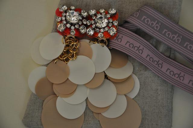 orecchini,accessori colorati,radà,rosa,panna,fuxia, le gille