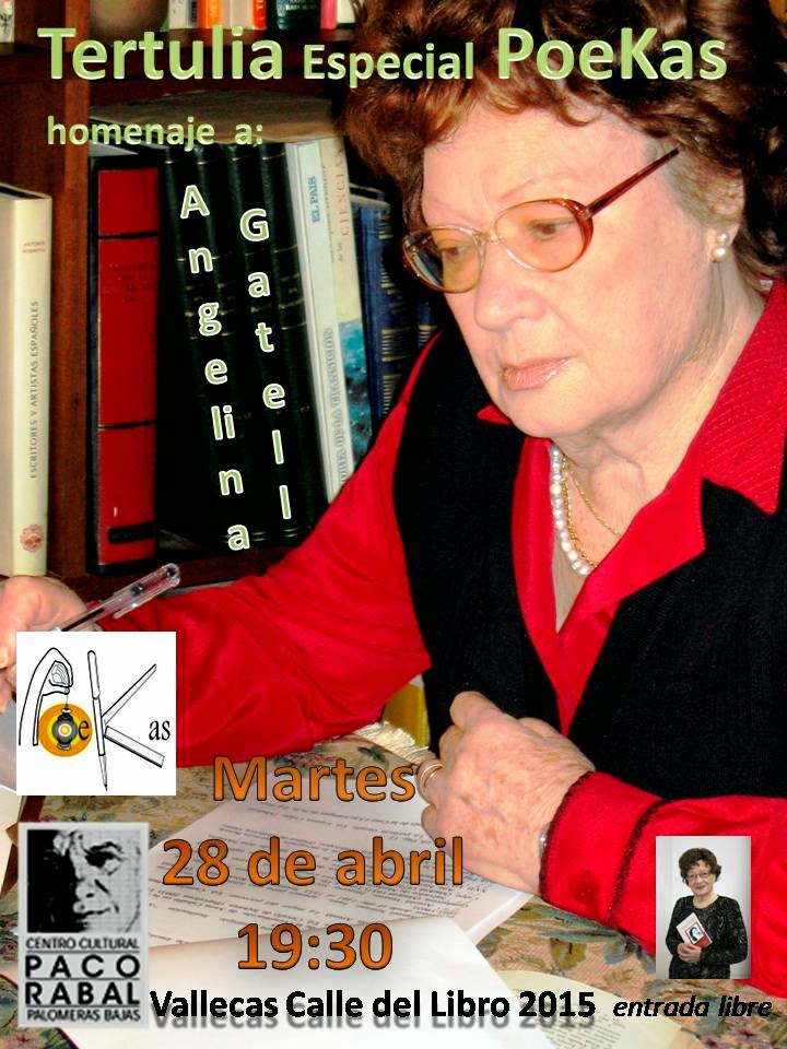 Angelina Gatell es la poeta protagonista de la XVI Edición de Vallecas Calle del Libro