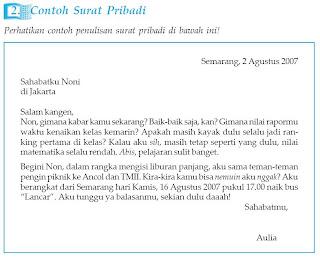 Contoh surat pribadi: