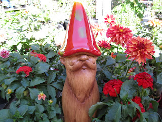 Garden gnome red hat