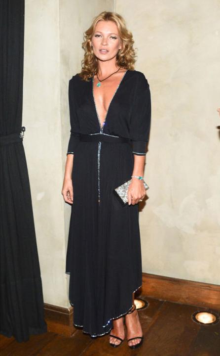 Kate Moss in vintage caftan