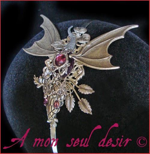 Serre-tête dragon médiéval fantasy Khaleesi bijou Daenerys Targaryen Mother of Dragons Valyria Jewel Headband Headdress