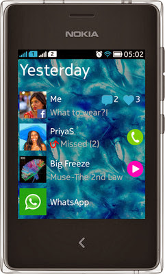 Nokia Asha 502 in India for rs 5799 specifications