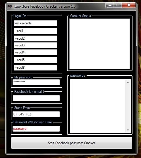 Facebook Password Cracker V1 Untitled