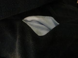 Blick in die Seitentasche * Fleece
