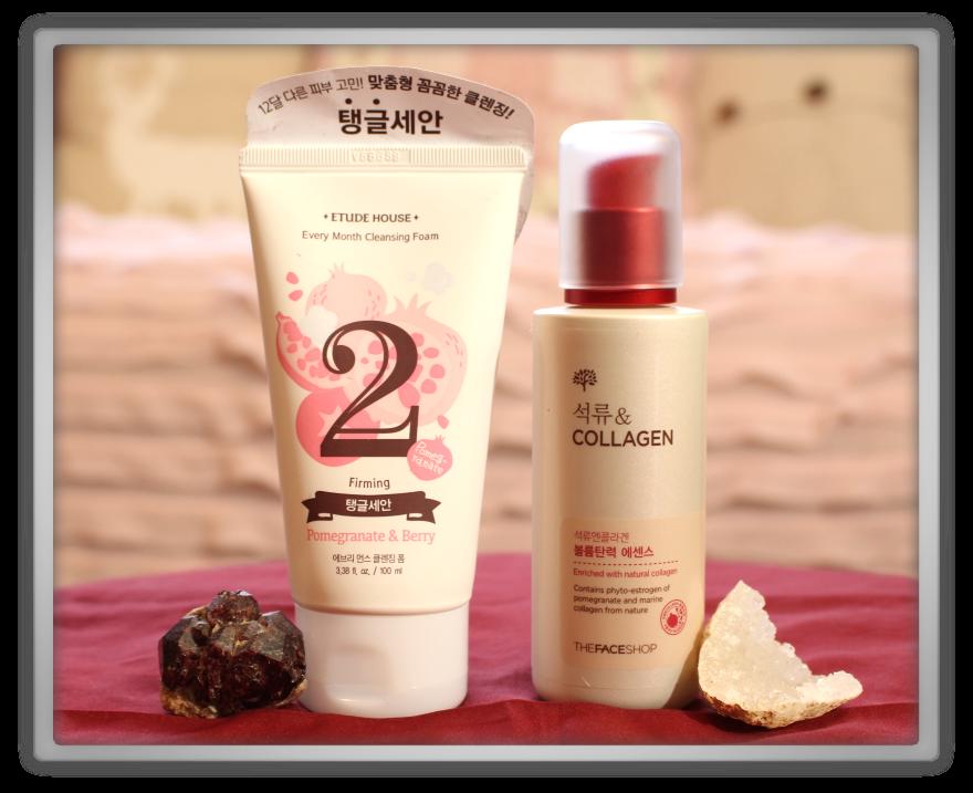 겟잇뷰티박스 by 미미박스 memebox beautybox Superbox #40 Pomegranate unboxing review etude house every month cleansing foam face shop collagen essemce lift