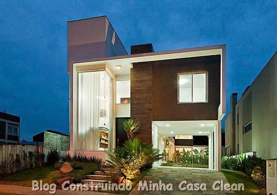 construindo minha casa clean fachadas de casas modernas e
