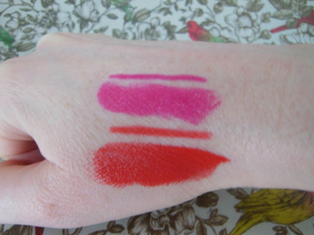 Urban Decay Revolution Lipstick swatches Anarchy and Bang
