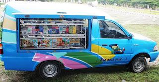 Mobil perpustakaan keliling di Sidrap yang rutin mengunjungi sekolah-sekola